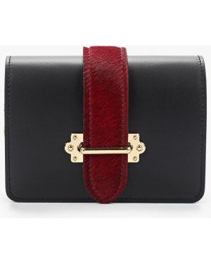 Кожаная поясная сумка - черная Pulicati