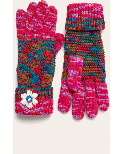 Czerwone rękawiczki z akrylu Desigual