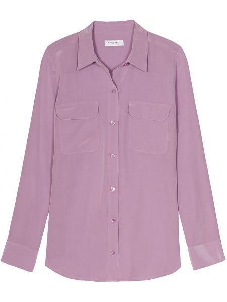 Розовая классическая рубашка с воротником узкого кроя на пуговицах Equipment
