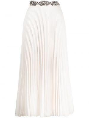 Bawełna z wysokim stanem biały pofałdowany spódnica Christopher Kane