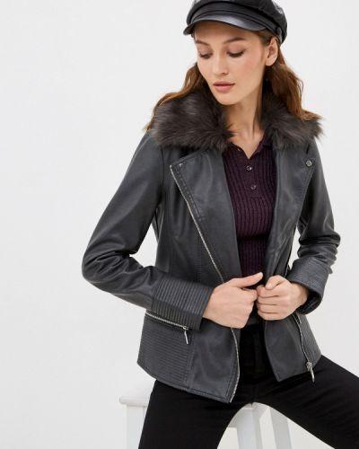 Серая кожаная куртка Wallis