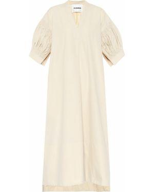 Платье мини миди из поплина Jil Sander