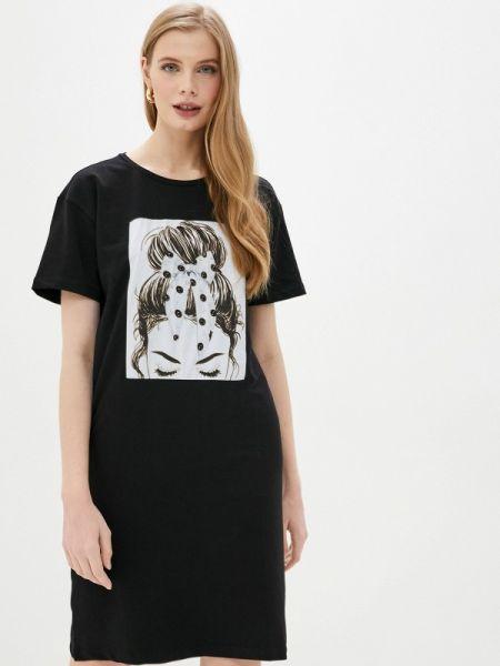 Черное футбольное платье Whitney