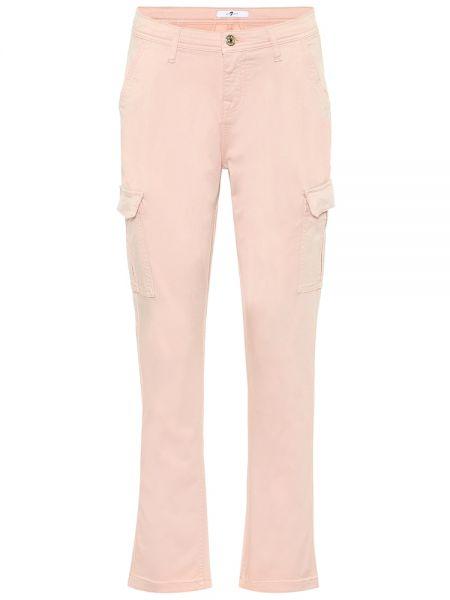 Деловые розовые брюки карго 7 For All Mankind