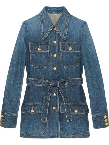 Bawełna niebieski jeansy z kieszeniami Gucci