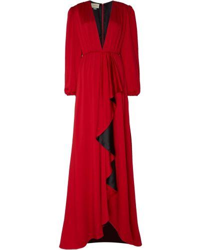 Вечернее платье с декольте макси Gucci