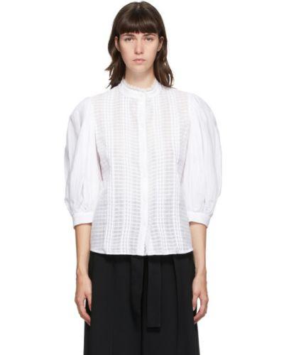 Плиссированная блузка с рукавом 3/4 с воротником с вышивкой See By Chloé