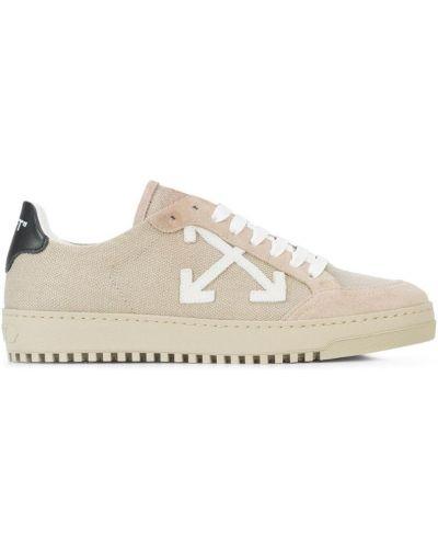 Кожаные кроссовки с логотипом на шнуровке Off-white
