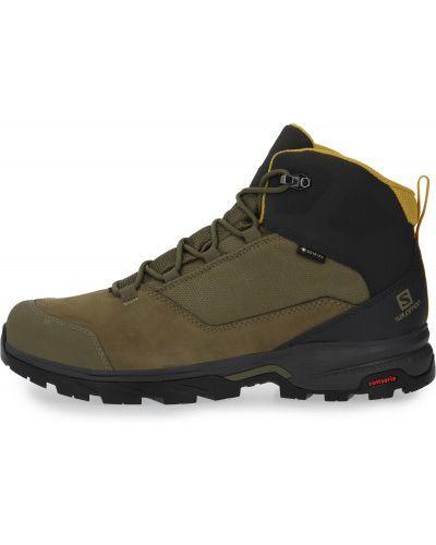 Кожаные ботинки - зеленые Salomon