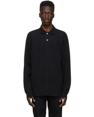 Z rękawami bawełna bawełna czarny koszulka polo Norse Projects