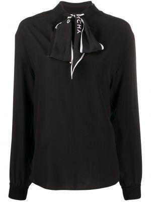 Bluzka z długim rękawem z dekoltem jedwabna Givenchy