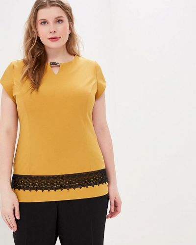 Блузка с коротким рукавом желтый весенний Grafinia