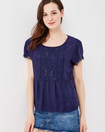 Блузка с коротким рукавом синяя весенний Roxy