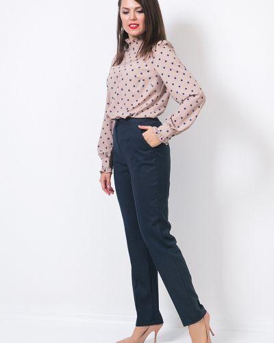 Костюмные зауженные классические брюки на резинке Modellos