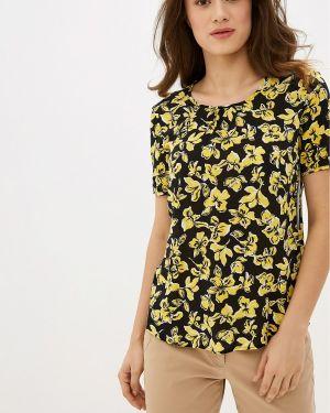 Блузка с коротким рукавом весенний черная Gerry Weber