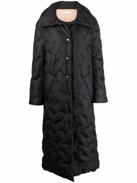 Черное длинное пальто Ssheena
