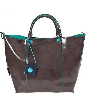 Кожаная сумка - серая Gabs