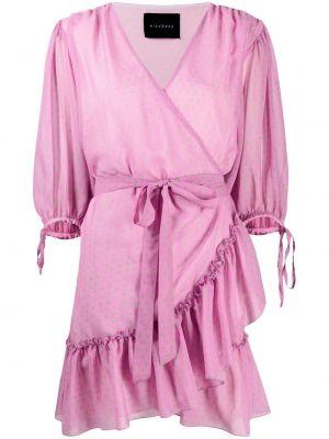 Платье в горошек - розовое John Richmond