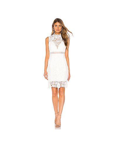 Платье на шнуровке с кружевными рукавами Bardot
