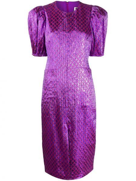 Платье миди с карманами фиолетовый Rotate