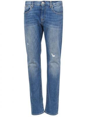 Голубые джинсы Armani Exchange