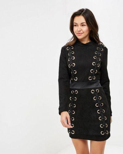 Платье осеннее черное Danity