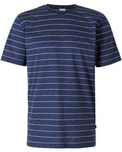 Niebieska piżama w paski Zimmerli