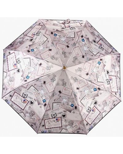 Бежевый зонт складной Fabretti