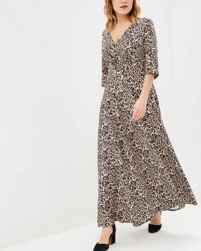 Повседневное платье бежевое Darissa Fashion