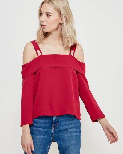 Блузка с открытыми плечами розовая Topshop