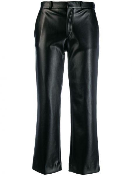 Czarne spodnie skorzane z paskiem Each X Other