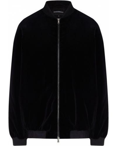 Куртка черная бархатная Emporio Armani