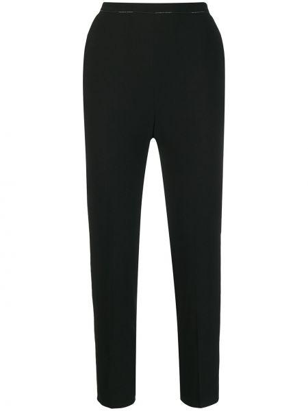 Przycięte spodnie czarne spodnie chuligańskie Elisabetta Franchi