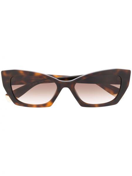 Солнцезащитные очки с логотипом - черные Furla
