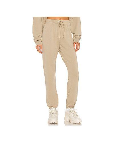 Хлопковые коричневые брюки с завязками Pam & Gela