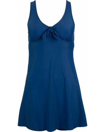 Темно-синее купальное платье Bonprix