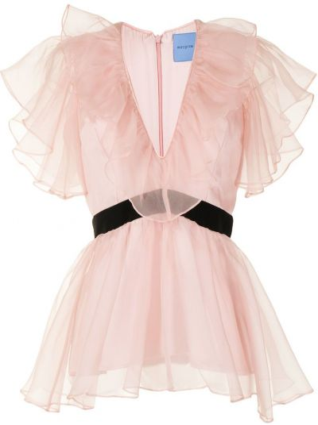 Bluzka z jedwabiu - różowa Macgraw