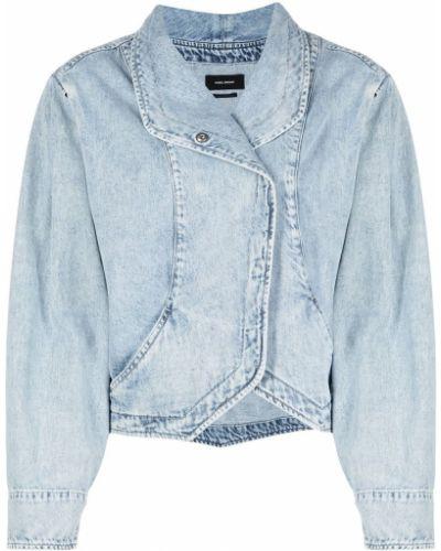 Bawełna niebieski jeansy z kieszeniami Isabel Marant