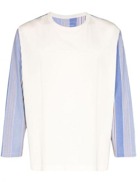 Белая хлопковая футболка свободного кроя с круглым вырезом Sophnet.