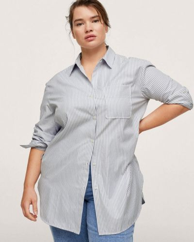 Синяя зимняя рубашка Violeta By Mango