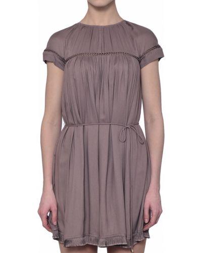 Фиолетовое платье Elisabetta Franchi