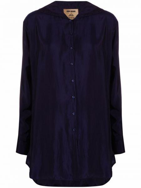 Синяя рубашка длинная Uma Wang