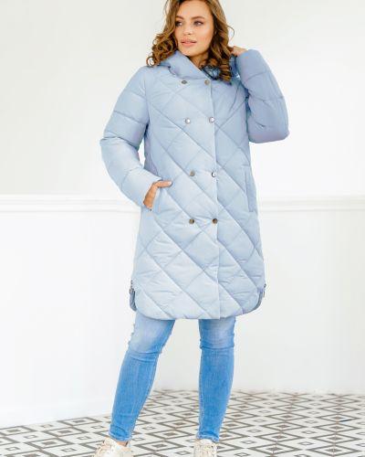 Пальто с капюшоном - голубое Nui Very