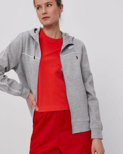 Szara bluza z kapturem bawełniana Nike Sportswear
