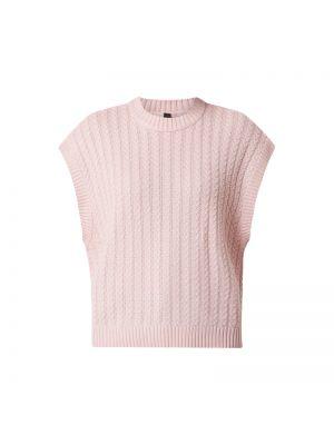 Prążkowana różowa kamizelka bawełniana Y.a.s