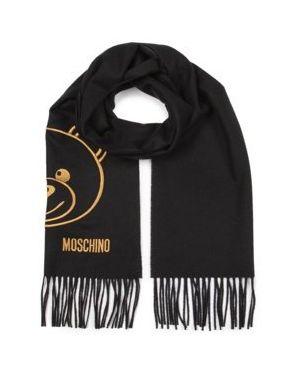 Czarna szal wełniana Moschino