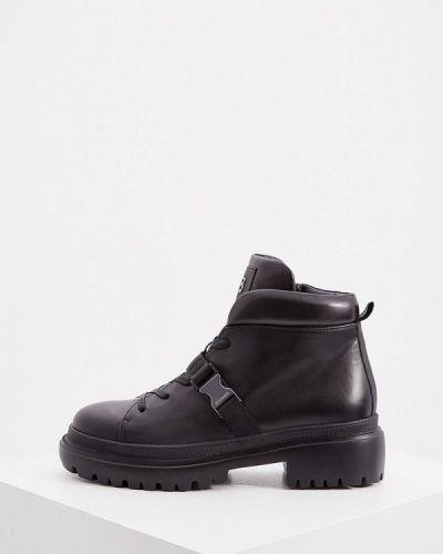 Черные высокие ботинки Bogner