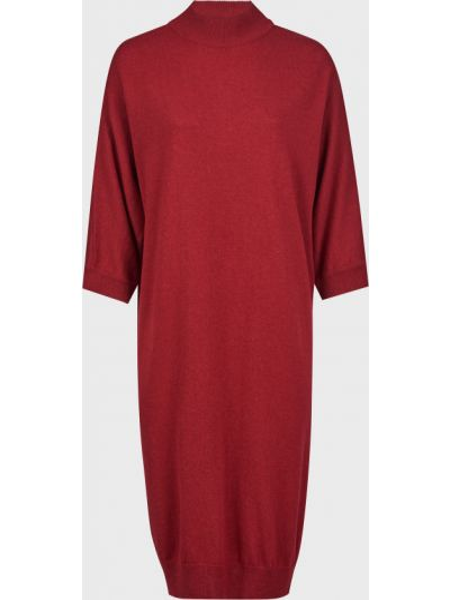 Шерстяное красное платье Kontatto