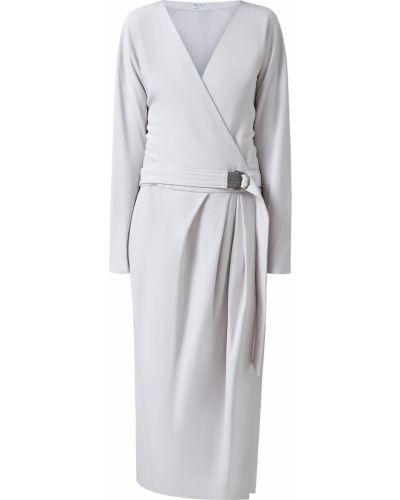 Платье с поясом футляр с запахом Brunello Cucinelli