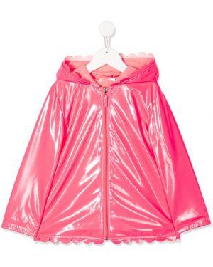 Różowa kurtka z kapturem bawełniana Billieblush